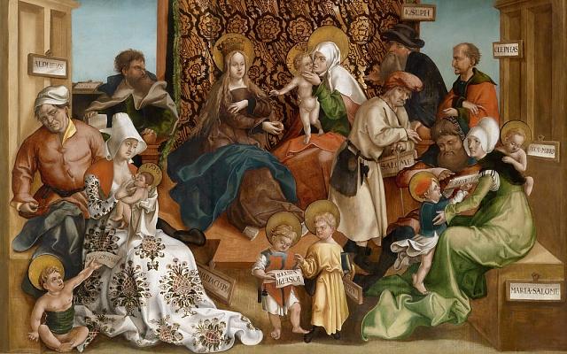 Gemälde: Die HeiligeSippe (entstanden um 1530)
