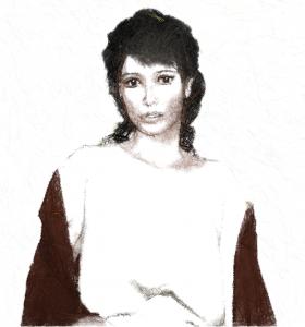maria mit schal